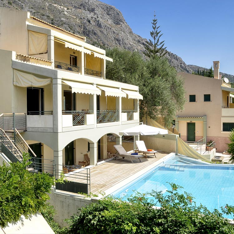 Aeolos villa in corfu with pool