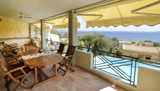 The balcony of Villa Aeolos