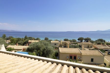 View from villa in Barbati beach