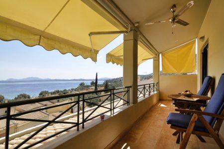 Luxurious villa balcony