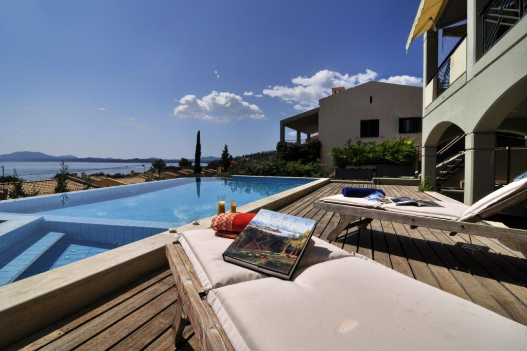 Villas in corfu with a pool