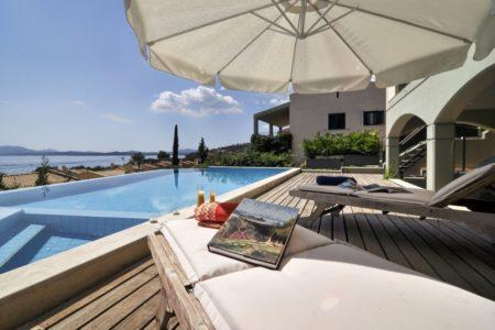 Luxurious villa in Corfu pool view