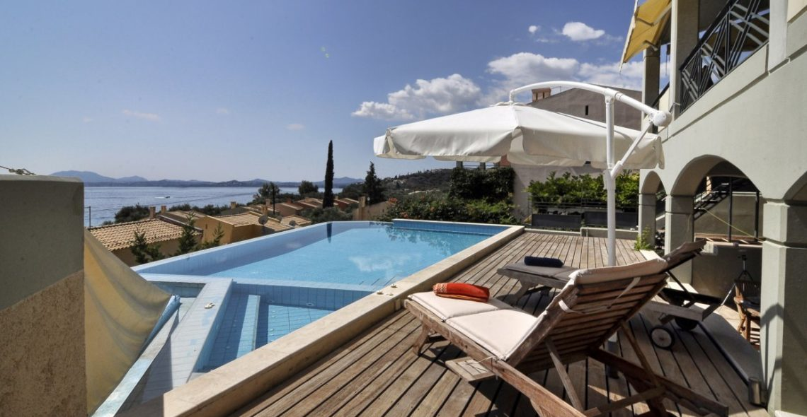 A view from villa aeolos private pool
